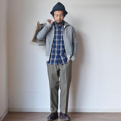 """【2way仕様の裏起毛スウェット】Kepani  ケパニ スタンドネック ジップブルゾン""""グレートスモーキー"""" グレー"""