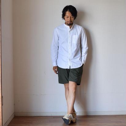 【完売御礼】MANUAL ALPHABET PREMIUM OX BAND COLLAR SHIRT マニュアルアルファベット プレミアムオックスバンドカラーシャツ ホワイト