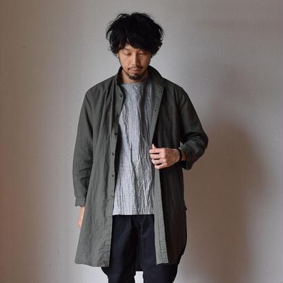 【完売御礼】AUDIENCE LINEN SHIRT COAT オーディエンス ソフトリネンキャンバス ローマシャツコート オリーブ