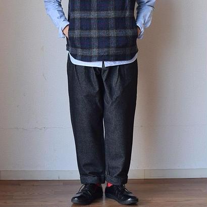 【完売御礼】F.O.B FACTORY 2TUCK WIDE PANTS WOOL BLK エフオービーファクトリー ツータック ワイドパンツ ウール ブラック