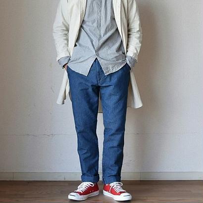 【夏素材のペインターパンツ】F.O.B FACTORY  コットンリネン フレンチワークパンツ  ブルー