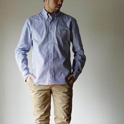 【定番アイテム】Manualalphabet マニュアルアルファベット BROAD BD SHIRT ブロードボタンダウンシャツ NVYST ネイビーストライプ MEN'S メンズ