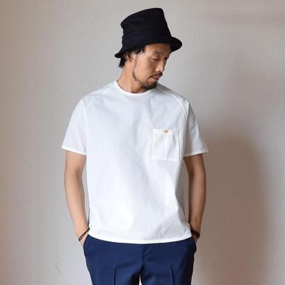 【ラスト1点!】Re made in tokyo japan RELAX SEER SUCKER T-SHIRT WHT  リラックスシアサッカーTシャツ ホワイト