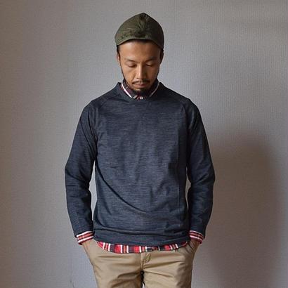 【2017秋冬新作】Re made in tokyo japan  Wool Knit Raglan T  アールーイーメイドイントーキョージャパン ウールニットラグランTシャツ チャコール