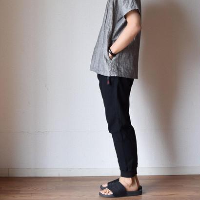 【完売御礼】GRAMICCI CL NARROW RIB PANTS BLK グラミチ  コットンリネン ナローリブパンツ ブラック