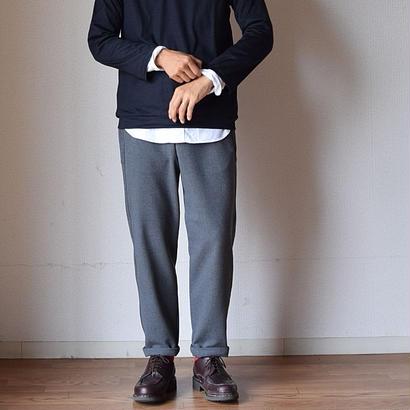 【2017秋冬新作】LA MOND RELAX PANTS GRY ラモンド ストレッチ フランネル リラックスパンツ グレー