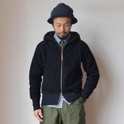 【2017秋冬新作】Re made in tokyo japan CLASSIC WOOL ZIP PARKA BLK クラシック ウール ジップパーカー ブラック
