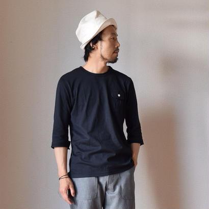【完売御礼】Re made in tokyo japan THREE QUARTER SLEEVE POCKE TEE BLK  七分袖ポケットTシャツ ブラック