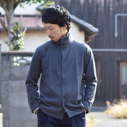 nisica TURTLE NECK CUTSEWN WOOL GRY ニシカ タートルネックカットソー ウール グレー