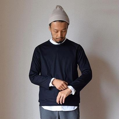 【2017秋冬新作】Re made in tokyo japan  Wool Knit Raglan T BLK  アールーイーメイドイントーキョージャパン ウールニットラグランTシャツ ブラック