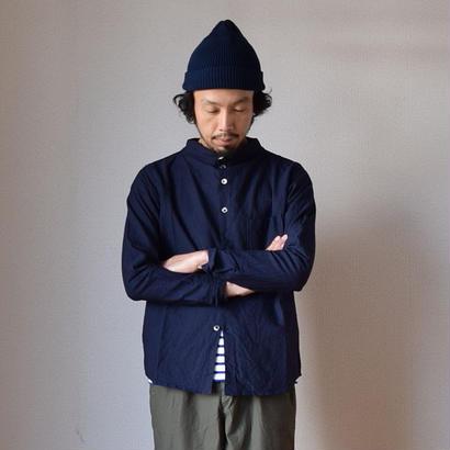 【2017秋冬分入荷しました!】nisica GANDHI NECK SHIRT ニシカ ガンジーネックシャツ ネイビー