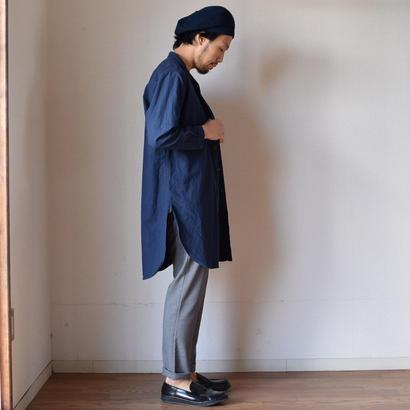 【完売御礼】AUDIENCE LINEN SHIRT COAT オーディエンス ソフトリネンキャンバス ローマシャツコート ネイビー