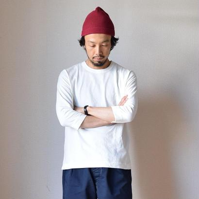 【完売御礼】BETTER MID WEIGHT CREW NECK 3/4 SHIRT WHT ベター クルーネック七分袖Tシャツ  ホワイト