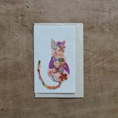 手漉き紙 ミニカード ネコ