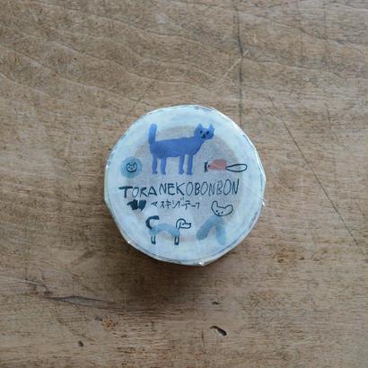 トラネコボンボン マスキングテープ D 1巻パック