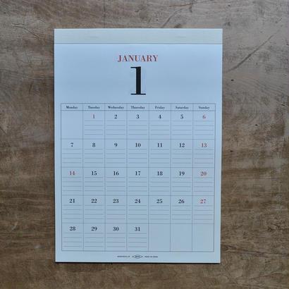 MUCU 壁掛けカレンダー DAYS 2019