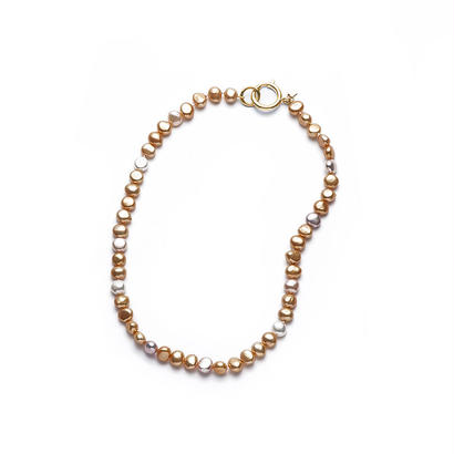 Sunshine Gold Mermaid Pearl Short Gold Clasp