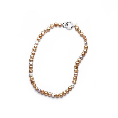 Sunshine Gold Mermaid Pearl Short Silver Clasp