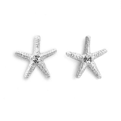 Sea Star Pierced Earring Silver