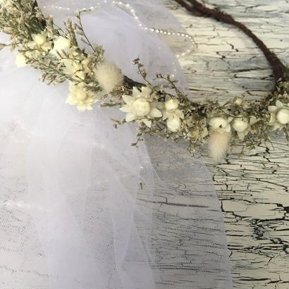 <ドライフラワー花冠>Mist