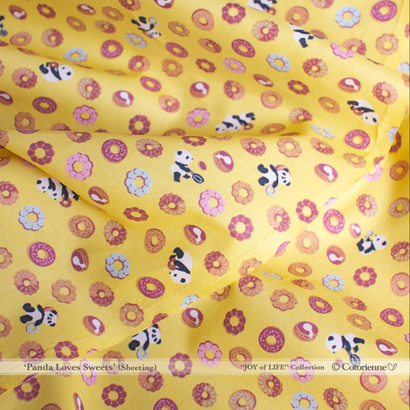 Panda Loves Sweets -canary yellow (CO112508 B)