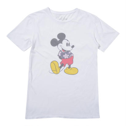 ALOHA SHIRT MICKEY TEE   (WHITE)No.119