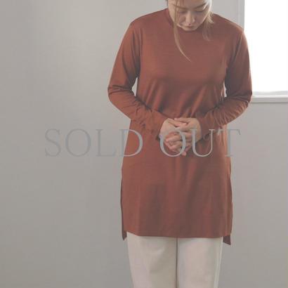 PULETTE / Wool Jersey Long Tee / col.オレンジ