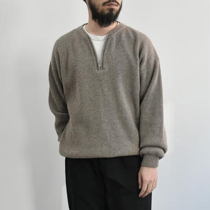 bunt / HALF ZIP SWEATER / col.ベージュ