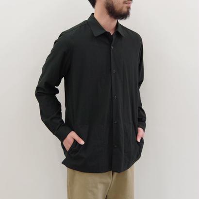 THEHINOKI / パラシュートクロス 丸衿シャツ / col.ブラック