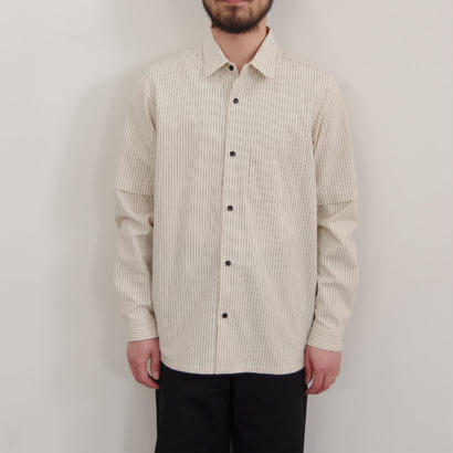 THE HINOKI / オーガニックコットン 丸衿シャツ / col.ストライプ