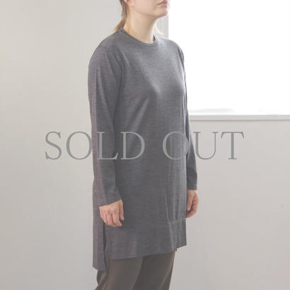 PULETTE / Wool Jersey Long Tee / col.チャコール