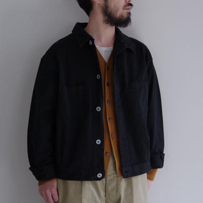 DEAD STOCK / ITALIAN NAVY COOK JACKET 黒染め / col.ブラック