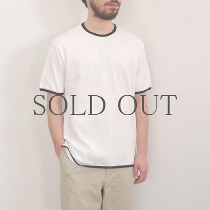 THE HINOKI / オーガニックコットン リンガーTシャツ / col.ホワイト×ブラック