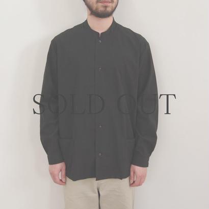 THEHINOKI / パラシュートクロス スタンドアップカラーシャツ / col.ブラック