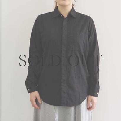 THE HINOKI / リネンコットンポケットワークシャツ / BLACK / size1 / Lady's