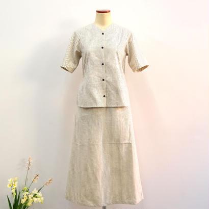 THE HINOKI / オーガニックコットンカラードレス  / col.チェック / size 0