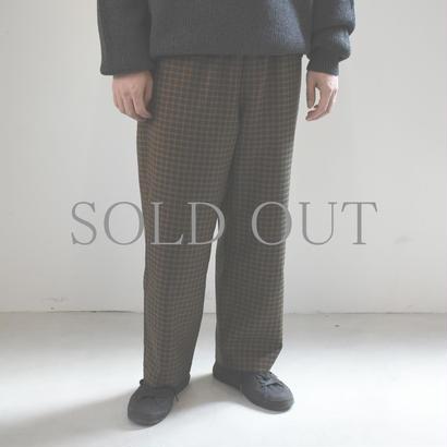 bunt / CK EASY PANTS / col.ブラウンチェック