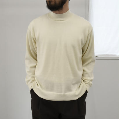 bunt /  12G MOCK NECK SWEATER / col.ホワイト / size 2