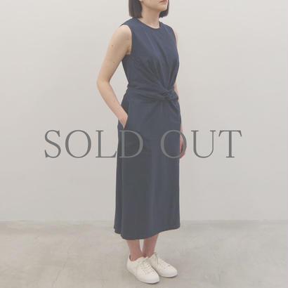 THE HINOKI / オーガニックコットン スリーブレスラップドレス / col.ネイビー / size 0
