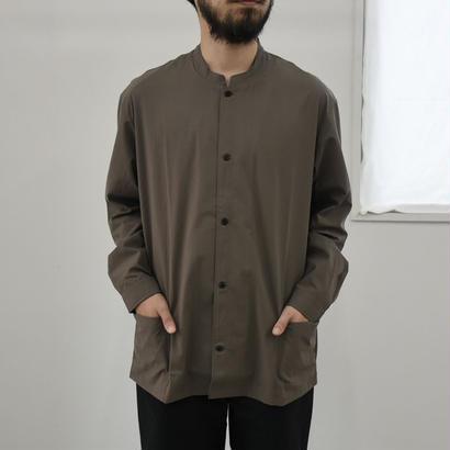 THE HINOKI / コットンボイルパラシュートクロス スタンドアップカラーシャツ / col.ブラウン / Men's