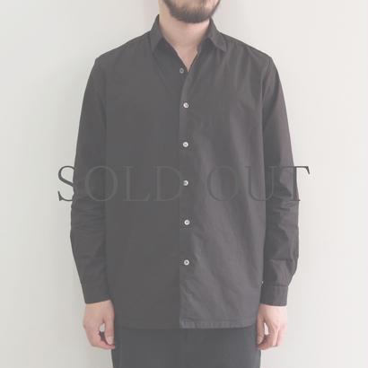 THE HINOKI / 高密度コットンブロードシャツ / col.ブラック&サックス