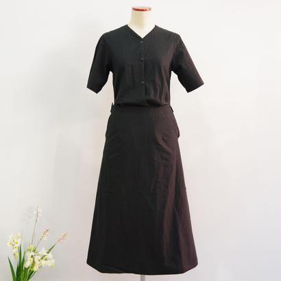THE HINOKI / パラシュートクロスカラードレス  / col.ブラック / size 0