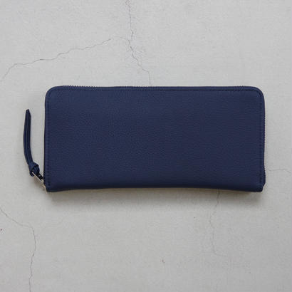 ERA. / BUBBLE CALF ROUND SLIM WALLET / col.ネイビー