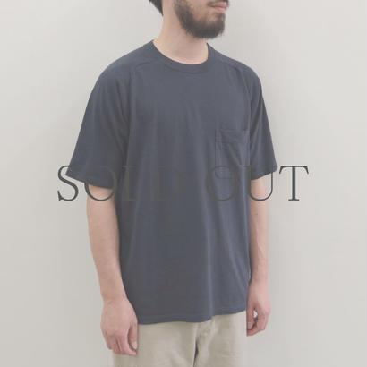 THE HINOKI / オーガニックコットン「THE 」バンドポケットTシャツ / col.ネイビー