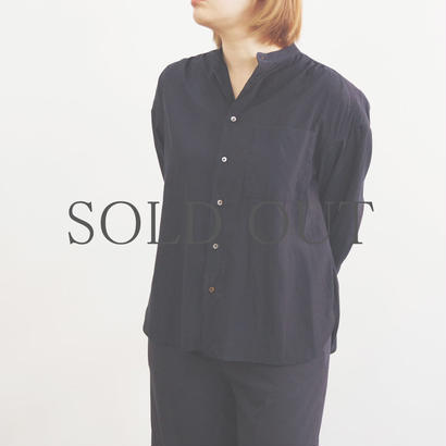 PULETTE / Draped Shirt / col.ネイビー
