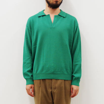 bunt / SKIPPER KNIT SHIRTS / col.グリーン