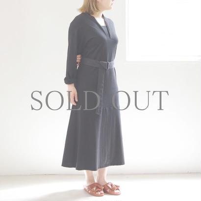 THE HINOKI / オーガニックコットンレイヤードカラードレス / col.ブラック / size 1