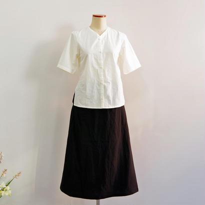 THE HINOKI / パラシュートクロスカラードレス  / col.ホワイト / size 0