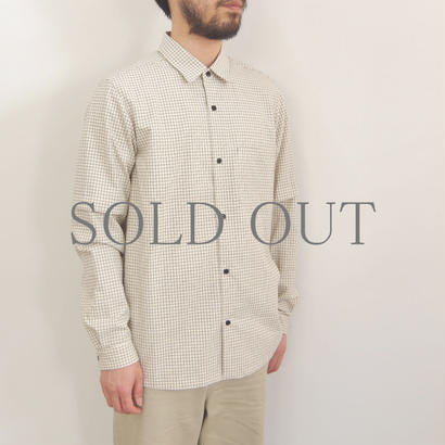 THE HINOKI / オーガニックコットン 丸衿シャツ / col.チェック