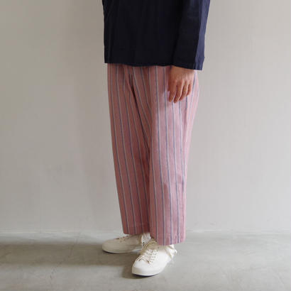 bunt / STRIPE EASY PANTS / col.レッド
